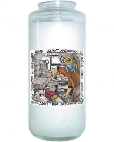 Devotional Candle - St. Anthony of Padua by M. McGrath