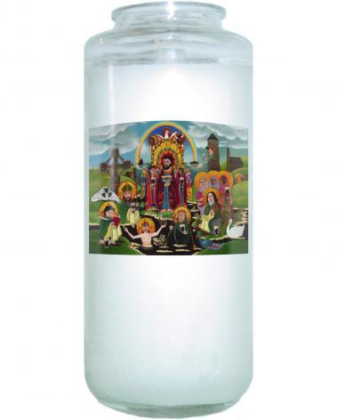 Devotional Candle - St. Brigid's Lake of Beer by M. McGrath
