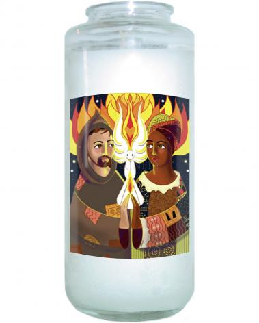 Devotional Candle - St. Francis of Assisi: Br. Sun, Sr. Thea by M. McGrath