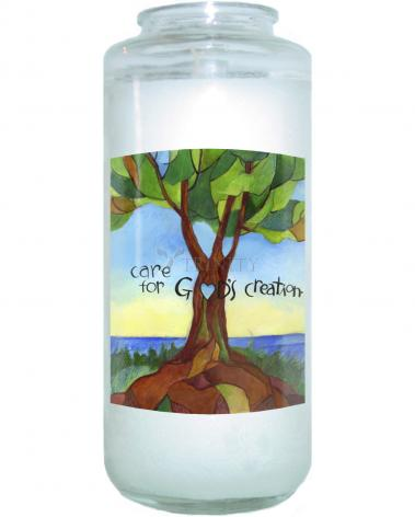 Devotional Candle - Care For God's Creation by M. McGrath