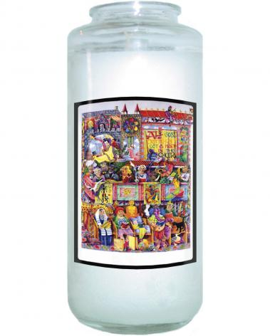 Devotional Candle - All God's Critters Got a Place in the Choir by M. McGrath