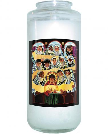 Devotional Candle - Christ the Student by M. McGrath