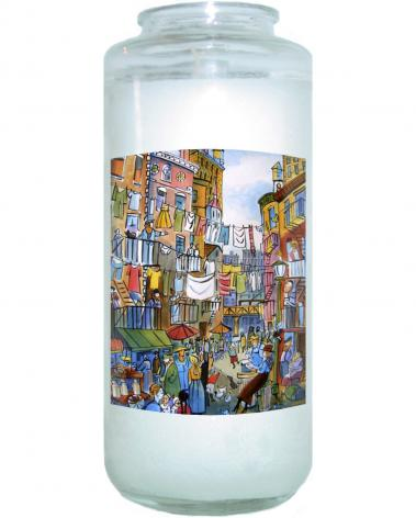 Devotional Candle - Dorothy Day Lower Eastside by M. McGrath