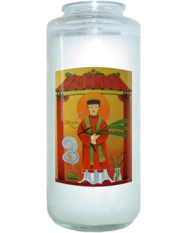 Devotional Candle - St. Andrew Dung-Lac  by M. McGrath