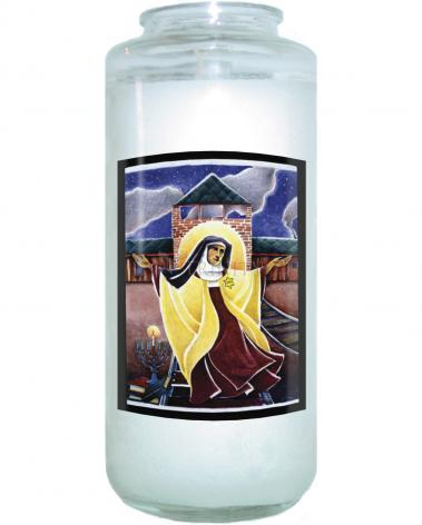 Devotional Candle - St. Edith Stein by M. McGrath