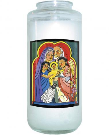 Devotional Candle - Extended Holy Family by M. McGrath