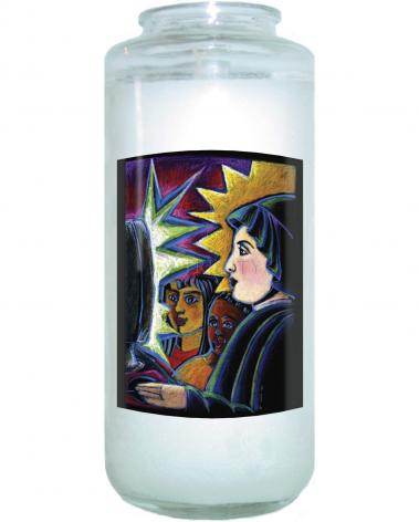 Devotional Candle - St. Elizabeth Seton by M. McGrath