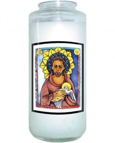Devotional Candle - St. Francis of Assisi  by M. McGrath