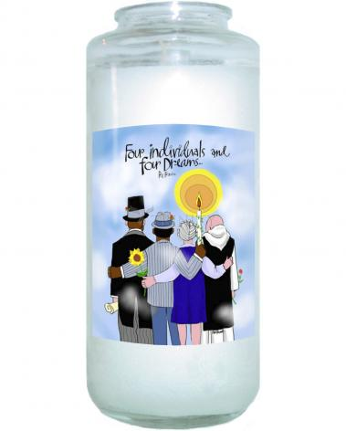 Devotional Candle - Four Individuals and Four Dreams by M. McGrath