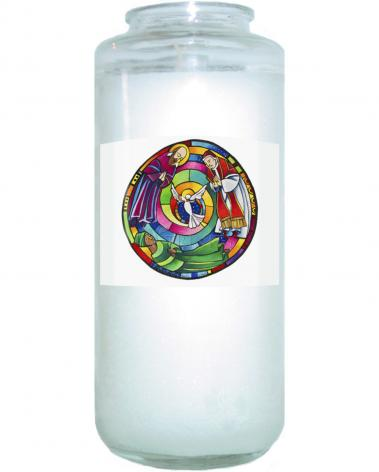 Devotional Candle - St. Francis de Sales, Thea Bowman, St. John XXIII Mandala by M. McGrath