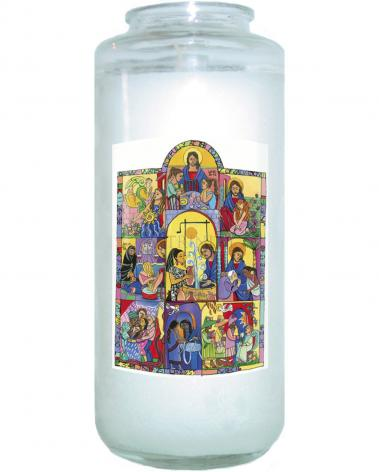 Devotional Candle - Fountain of Wisdom by M. McGrath