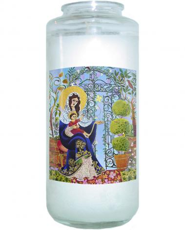 Devotional Candle - Mary, Gate of Heaven by M. McGrath