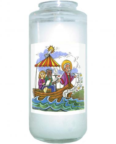 Devotional Candle - St. Paul: Greet Sts. Priscilla and Aquila by M. McGrath