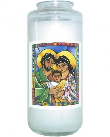 Devotional Candle - Holy Family by M. McGrath
