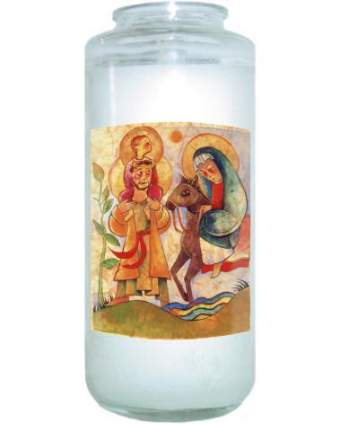 Devotional Candle - Holy Family: Giotto by M. McGrath
