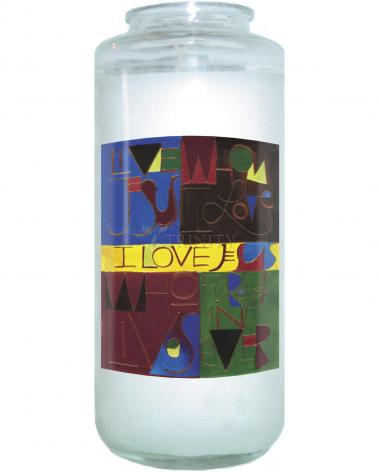 Devotional Candle - I Love Jesus by M. McGrath