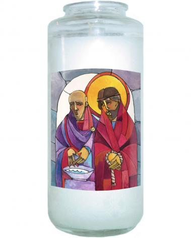 Devotional Candle - Stations of the Cross - 01 Jesus is Condemned to Death by M. McGrath