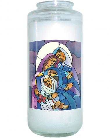 Devotional Candle - Stations of the Cross - 14 Body of Jesus is Laid in the Tomb by M. McGrath