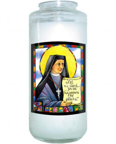 Devotional Candle - St. Leonie Aviat by M. McGrath