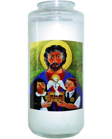 Devotional Candle - St. Luke the Evangelist by M. McGrath