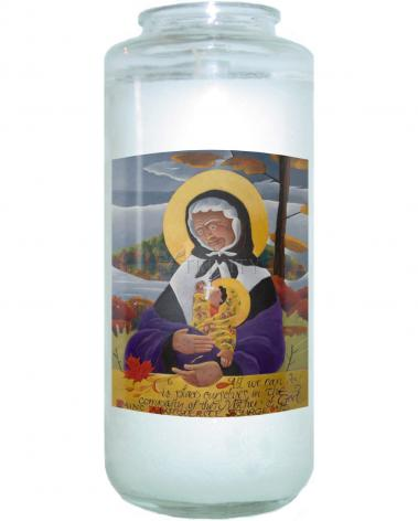 Devotional Candle - St. Marguerite Bourgeoys by M. McGrath