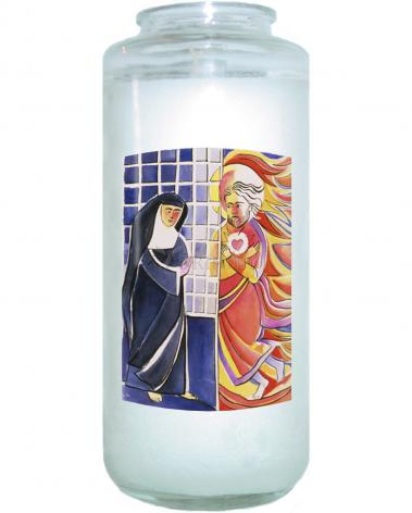 Devotional Candle - St. Margaret Mary Alacoque, Cloister by M. McGrath