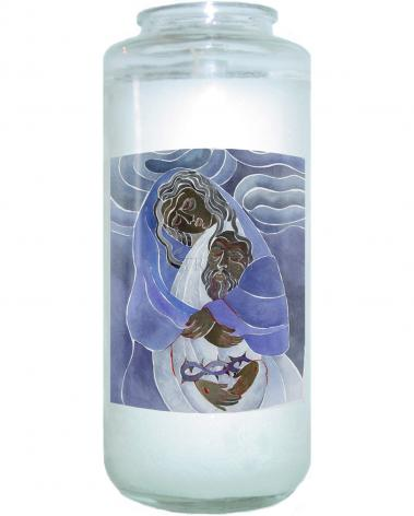 Devotional Candle - Mary, Mother of Sorrows by M. McGrath