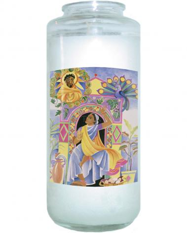 Devotional Candle - St. Mary Magdalene at the Tomb by M. McGrath