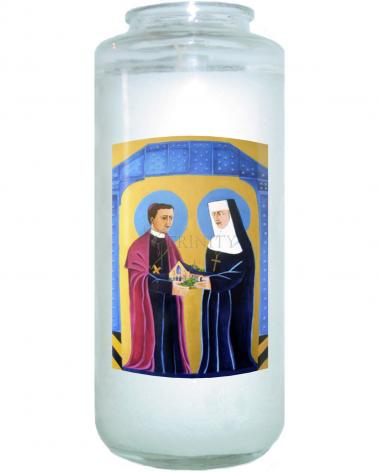 Devotional Candle - Sts. John Neumann and Katharine Drexel by M. McGrath