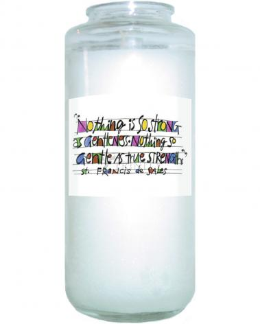 Devotional Candle - Nothing Is So Strong As Gentleness by M. McGrath