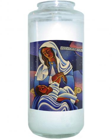 Devotional Candle - Our Lady of the Divine Providence by M. McGrath