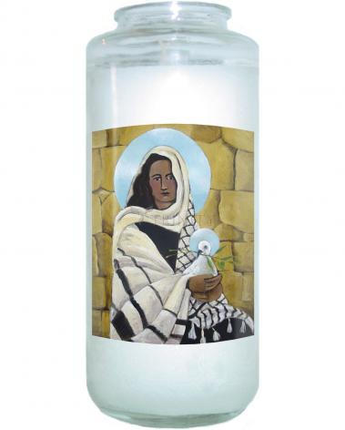 Devotional Candle - Mary, Our Lady of Peace by M. McGrath
