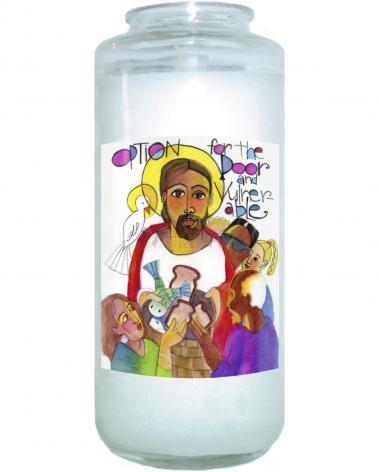 Devotional Candle - Option for the Poor and Vulnerable by M. McGrath