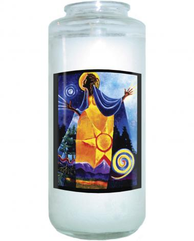 Devotional Candle - Queen of Heaven, Mother of Earth by M. McGrath