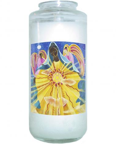 Devotional Candle - Mary, Queen of the Universe by M. McGrath