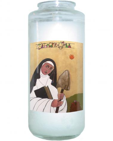 Devotional Candle - St. Catherine of Siena by M. McGrath
