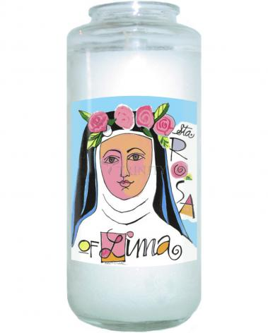 Devotional Candle - St. Rose of Lima by M. McGrath