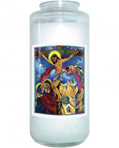 Devotional Candle - Tower of Strength by M. McGrath