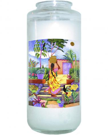 Devotional Candle - Woman at the Well by M. McGrath