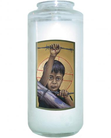 Devotional Candle - Christ the Dreamer by M. Reyes