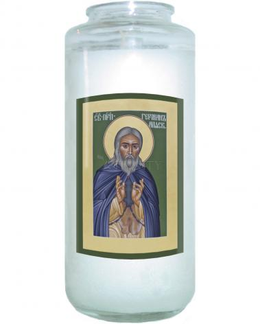 Devotional Candle - St. Herman of Alaska by R. Lentz