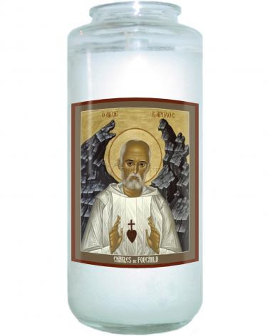 Devotional Candle - Bl. Charles de Foucauld by R. Lentz