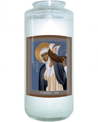 Devotional Candle - St. Catherine of Siena by R. Lentz