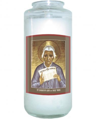 Devotional Candle - Dorothy Day of New York by R. Lentz