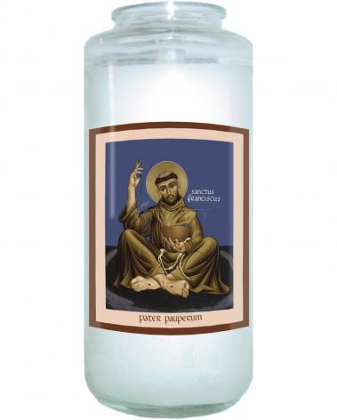 Devotional Candle - St. Francis, Father of the Poor by R. Lentz