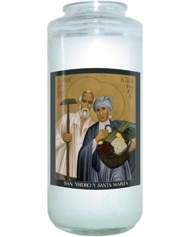 Devotional Candle - Sts. Isidore and Maria by R. Lentz