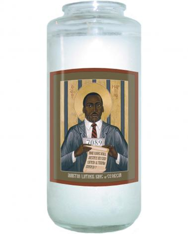 Devotional Candle - Martin Luther King of Georgia by R. Lentz