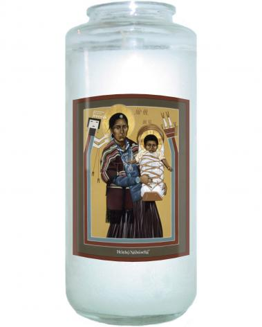 Devotional Candle - Navaho Madonna by R. Lentz