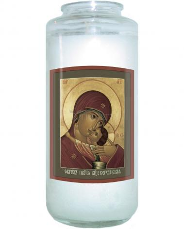 Devotional Candle - Our Lady of Korsun by R. Lentz