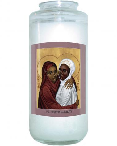 Devotional Candle - Sts. Perpetua and Felicity by R. Lentz